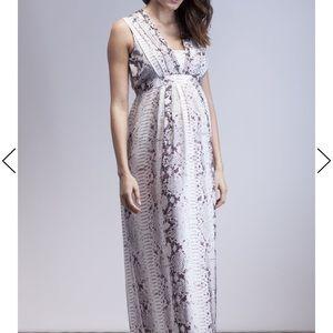 Isabella Oliver Zahara Snake Maternity Dress
